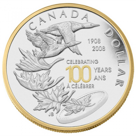 2008 Proof Silver Dollar - Celebrating the Royal Canadian Mint Centennial
