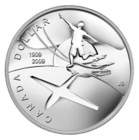 2009 Brilliant Uncirculated Silver Dollar - 100th Anniversary of Flight in Canada