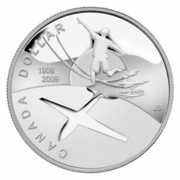 2009 (1909-) Canadian $1 First Flight in Canada 100th Anniv Proof Silver Dollar Coin