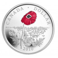 2010 Proof Silver Dollar - Limited Edition Poppy