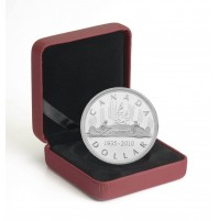 2010 Proof Sterling Silver Dollar - 75th Anniversary of the First Canadian Silver Dollar