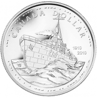 2010 Brilliant Uncirculated Silver Dollar - 100th Anniversary of the Canadian Navy