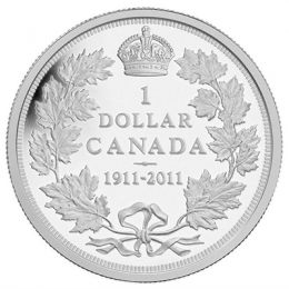 2011 Canada Proof Silver Dollar - 100th Anniversary of the 1911 Silver Dollar