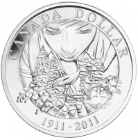 2011 Brilliant Uncirculated Silver Dollar - 100th Anniversary of Parks Canada