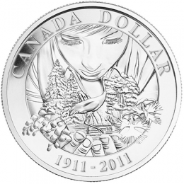2011 Canada Brilliant Uncirculated Silver Dollar - 100th Anniversary of Parks Canada