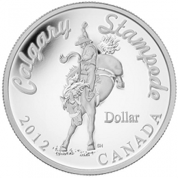 2012 Canada Proof Fine Silver Dollar - 100th Anniversary of the Calgary Stampede