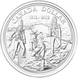 2012 (1812-) Canadian $1 War of 1812 200th Anniv Brilliant Uncirculated Fine Silver Dollar Coin