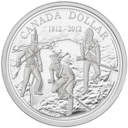 2012 Canada Proof Fine Silver Dollar - 200th Anniversary of the War of 1812