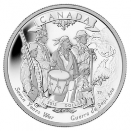 2013 Canadian $1 End of the Seven Years War 250th Anniv Proof Silver Dollar Coin (Limited Edition)