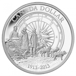 2013 (1913-) Canadian $1 Arctic Expedition 100th Anniversary Proof Silver Dollar Coin