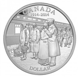 2014 (1914-) Canadian $1 Declaration of the First World War 100th Anniv Proof Silver Dollar Coin
