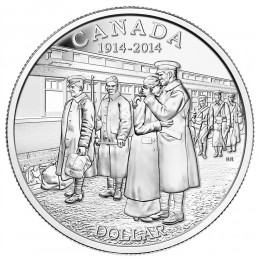 2014 Canadian $1 Declaration of the First World War 100th Anniv Brilliant Uncirculated Silver Dollar Coin