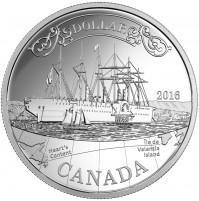 2016 Canada Proof Fine Silver Dollar - 150th Anniversary of the Transatlantic Cable