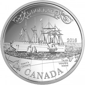 2016 Canadian $1 Transatlantic Cable 150th Anniv Proof Silver Dollar Coin
