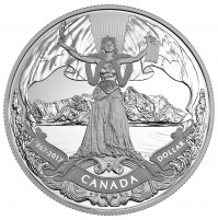 2017 Proof Fine Silver Dollar - 150th Anniversary of Canadian Confederation