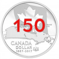 2017 Canada Proof Fine Silver Dollar - Our Home and Native Land, Enameled Special Edition