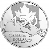 2017 Canada Proof Fine Silver Dollar - Our Home and Native Land