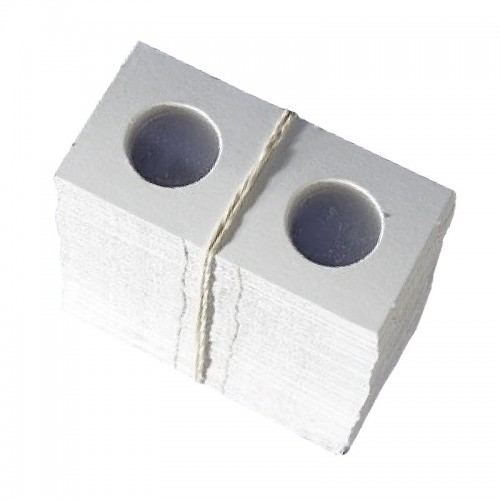 1.5x1.5 Mini Cardboard Flip Coin Holders for Nickels (5 Cents) - 22 mm, Staple-type (100ct)