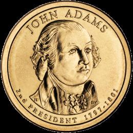 2007-P American $1 Presidential Series: John Adams Brilliant Uncirculated Coin