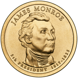 2008-P American $1 Presidential Series: James Monroe Brilliant Uncirculated Coin