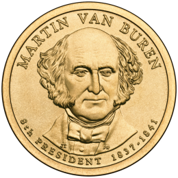 2008-P American $1 Presidential Series: Martin Van Buren Brilliant Uncirculated Coin