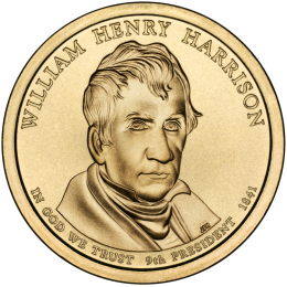 2009-P American $1 Presidential Series: William Henry Harrison Brilliant Uncirculated Coin
