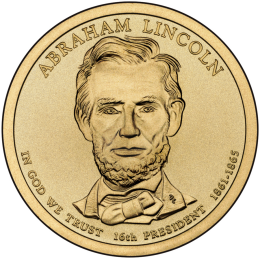 2010-P American $1 Presidential Series: Abraham Lincoln Brilliant Uncirculated Coin