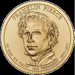 2010-P American $1 Presidential Series: Franklin Pierce Brilliant Uncirculated Coin