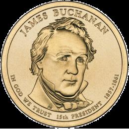 2010-P American $1 Presidential Series: James Buchanan Brilliant Uncirculated Coin