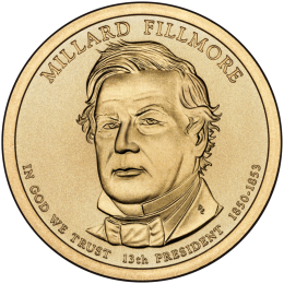 2010-D American $1 Presidential Series: Millard Fillmore Brilliant Uncirculated Coin