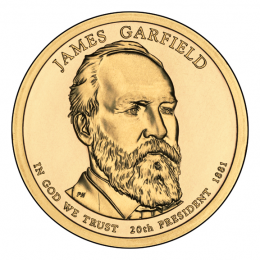 2011-P American $1 Presidential Series: James Garfield Brilliant Uncirculated Coin