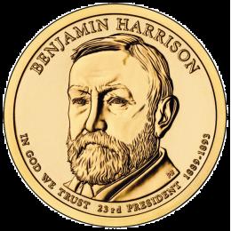 2012-P American $1 Presidential Series: Benjamin Harrison Brilliant Uncirculated Coin