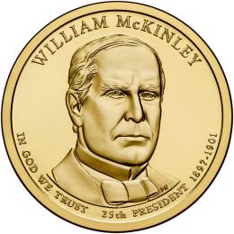 2013-P American $1 Presidential Series: William McKinley Brilliant Uncirculated Coin