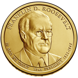 2014-P American $1 Presidential Series: Franklin D. Roosevelt Brilliant Uncirculated Coin