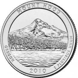2010-P American 25-Cent National Parks: Mount Hood Brilliant Uncirculated Coin