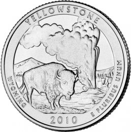 2010-P American 25-Cent National Parks: Yellowstone Brilliant Uncirculated Coin