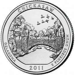 2011-P American 25-Cent National Parks: Chickasaw Brilliant Uncirculated Coin