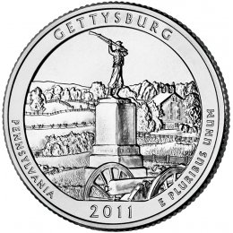 2011-P American 25-Cent National Parks: Gettysburg Brilliant Uncirculated Coin