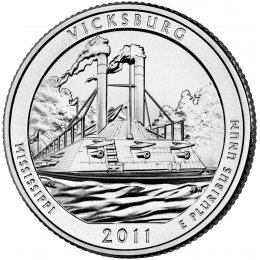 2011-P American 25-Cent National Parks: Vicksburg Brilliant Uncirculated Coin