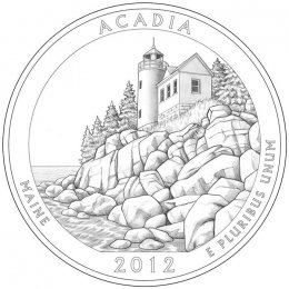 2012-P American 25-Cent National Parks: Acadia Brilliant Uncirculated Coin