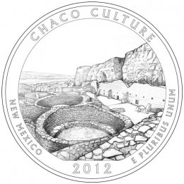 2012-P American 25-Cent National Parks: Chaco Culture Brilliant Uncirculated Coin