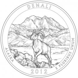 2012-P American 25-Cent National Parks: Denali Brilliant Uncirculated Coin