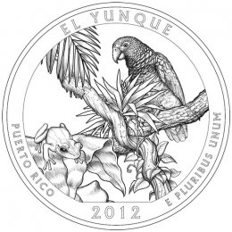 2012-P American 25-Cent National Parks: El Yunque Brilliant Uncirculated Coin