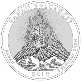 2012-P American 25-Cent National Parks: Hawaii Volcanoes Brilliant Uncirculated Coin