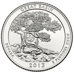 2013-P American 25-Cent National Parks: Great Basin Brilliant Uncirculated Coin