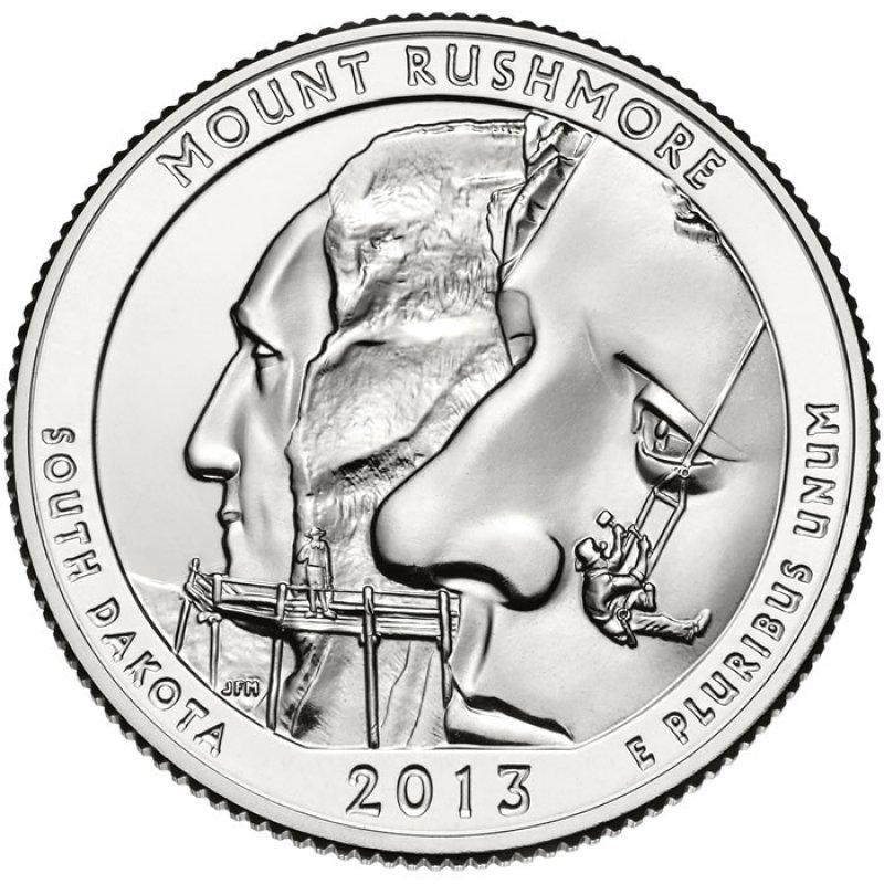 2013 D MOUNT RUSHMORE SOUTH DAKOTA PARK  QUARTER $10 BU ROLL