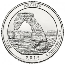 2014-P American 25-Cent National Parks: Arches Brilliant Uncirculated Coin