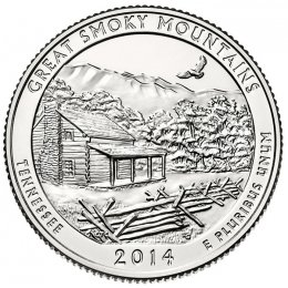 2014-P American 25-Cent National Parks: Great Smoky Mountains Brilliant Uncirculated Coin
