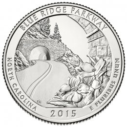 2015-P American 25-Cent National Parks: Blue Ridge Parkway Brilliant Uncirculated Coin