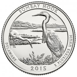 2015-P American 25-Cent National Parks: Bombay Hook National Wildlife Refuge Brilliant Uncirculated Coin